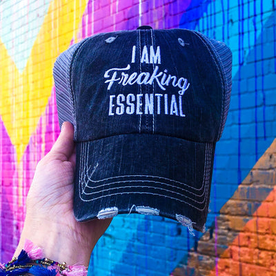 Buy I Am Freaking Essential Quarantine Hat from Walking Pants Curiosities, the Most un-General Gift Store in Downtown Memphis, Tennessee!