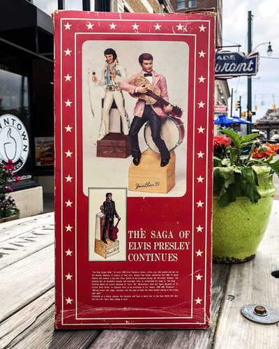 Buy 1977 Elvis Presley McCormick Decanter and Music Box from Walking Pants Curiosities, the Most un-General Gift Store in Downtown Memphis, Tennessee!