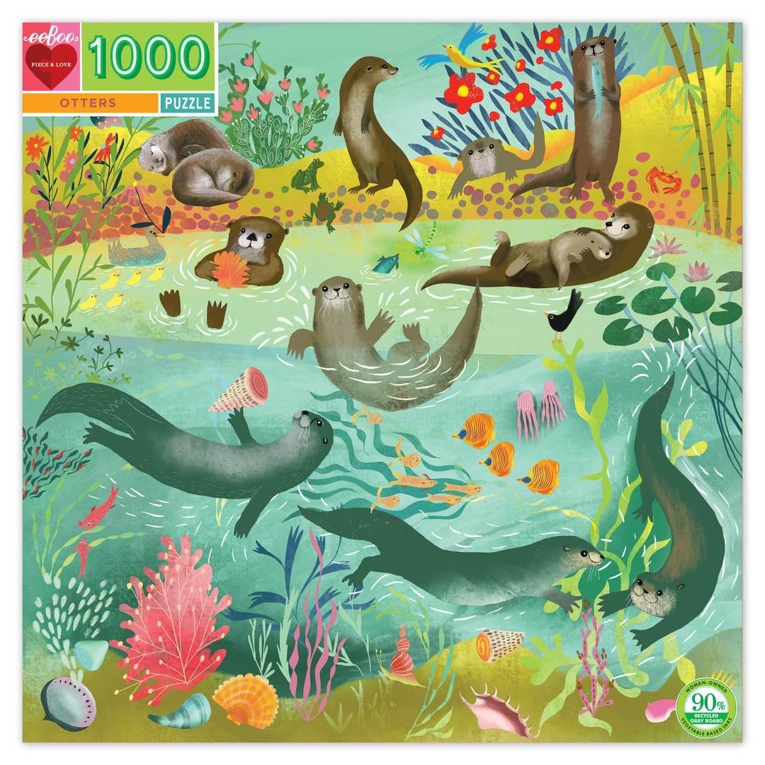 Buy BACK ORDER Otters 1000 Piece Puzzle Jigsaw Puzzle from Walking Pants Curiosities, the Most un-General Gift Store in Downtown Memphis, Tennessee!