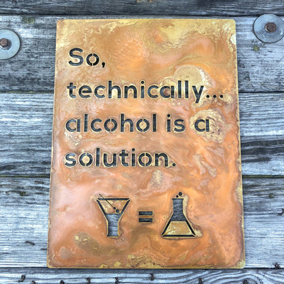 Buy Technically a Solution Metal Wall Art from Walking Pants Curiosities, the Most un-General Gift Store in Downtown Memphis, Tennessee!