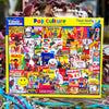 Buy Pop Culture 1000 Piece Jigsaw Puzzle from Walking Pants Curiosities, the Most un-General Gift Store in Downtown Memphis, Tennessee!