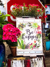 Buy Be Happy White Rustic Wall Decor from Walking Pants Curiosities, the Most un-General Gift Store in Downtown Memphis, Tennessee!