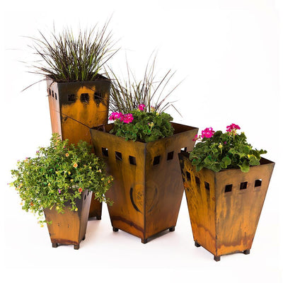 Buy Metal Planter, Medium from Walking Pants Curiosities, the Most un-General Gift Store in Downtown Memphis, Tennessee!