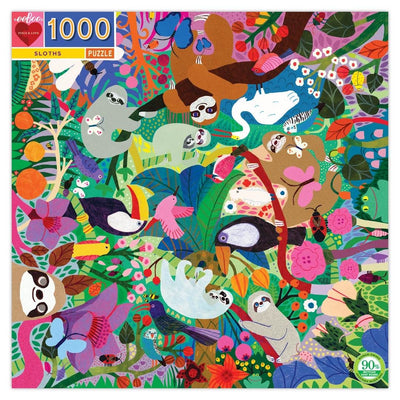 Buy Sloths 1000 Piece Square Jigsaw Puzzle from Walking Pants Curiosities, the Most un-General Gift Store in Downtown Memphis, Tennessee!