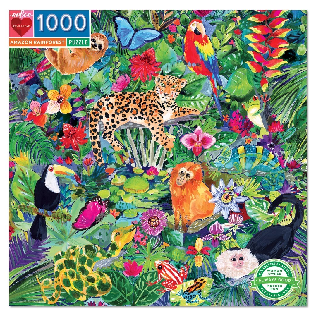 Buy Amazon Rainforest 1000 Piece Jigsaw Puzzle from Walking Pants Curiosities, the Most un-General Gift Store in Downtown Memphis, Tennessee!