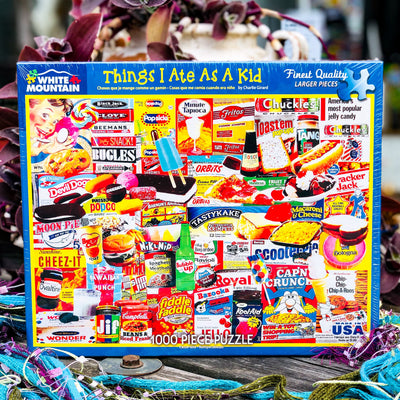 Buy Things I Ate As A Kid 1000 Piece Jigsaw Puzzle from Walking Pants Curiosities, the Most un-General Gift Store in Downtown Memphis, Tennessee!