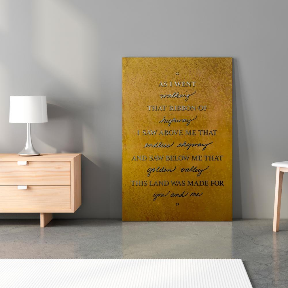 As I Went Walking (This Land Is My Land) Lyrics Metal Wall Art Decor - Walking Pants Curiosities