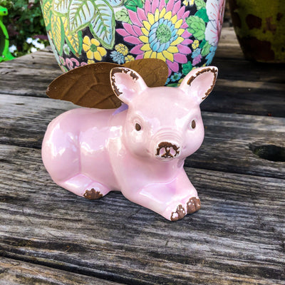 Buy Flying Pig With Wings Figurine from Walking Pants Curiosities, the Most un-General Gift Store in Downtown Memphis, Tennessee!