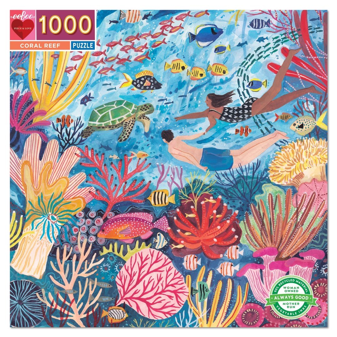 Buy BACK ORDER Coral Reef 1000 Piece Jigsaw Puzzle from Walking Pants Curiosities, the Most un-General Gift Store in Downtown Memphis, Tennessee!