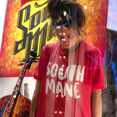 "Buy The South Main Memphis ""South Mane"" Ringer T-Shirt from Walking Pants Curiosities, the Most un-General Gift Store in Downtown Memphis, Tennessee!"