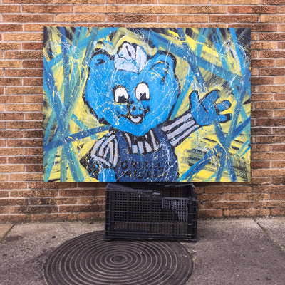 Buy Limited Edition Grizzly Wiggly on Canvas by Adam Exelbierd, a Wall Art from Walking Pants Curiosities, the Best Gift Shop Store in Memphis, Tennessee!