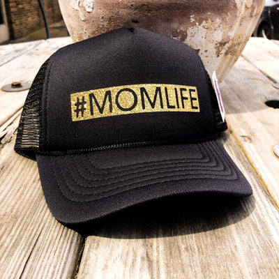 #Momlife Glitter Trucker Hat