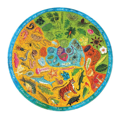 Buy Biodiversity 500 Piece Round Jigsaw Puzzle from Walking Pants Curiosities, the Most un-General Gift Store in Downtown Memphis, Tennessee!