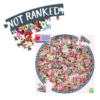 Buy Women March! 500 Piece Round Jigsaw Puzzle from Walking Pants Curiosities, the Most un-General Gift Store in Downtown Memphis, Tennessee!