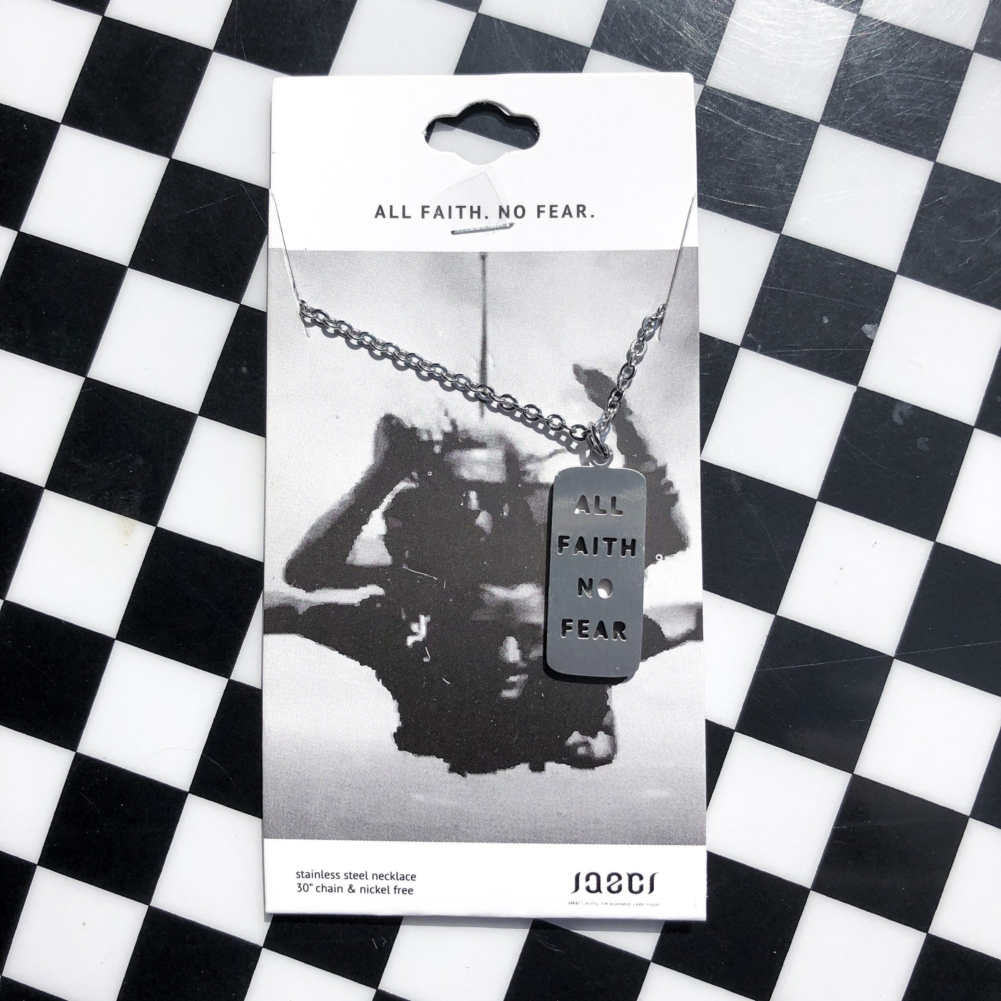 JAECI - All Faith No Fear Cutout Necklace - Walking Pants Curiosities