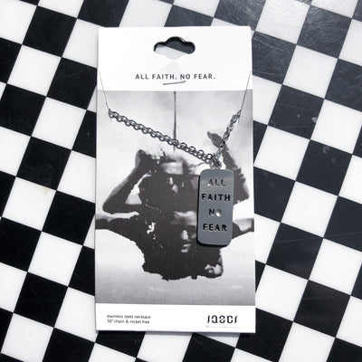 Buy JAECI - All Faith No Fear Cutout Necklace from Walking Pants Curiosities, the Most un-General Gift Store in Downtown Memphis, Tennessee!
