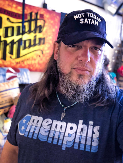 Buy Memphis Tri-Star Adventures Tennessee T-Shirt from Walking Pants Curiosities, the Most un-General Gift Store in Downtown Memphis, Tennessee!
