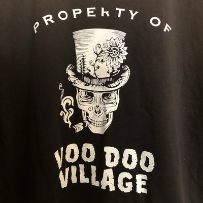 Buy Property of Voodoo Village Short Sleeve T-Shirt from Walking Pants Curiosities, the Most un-General Gift Store in Downtown Memphis, Tennessee!
