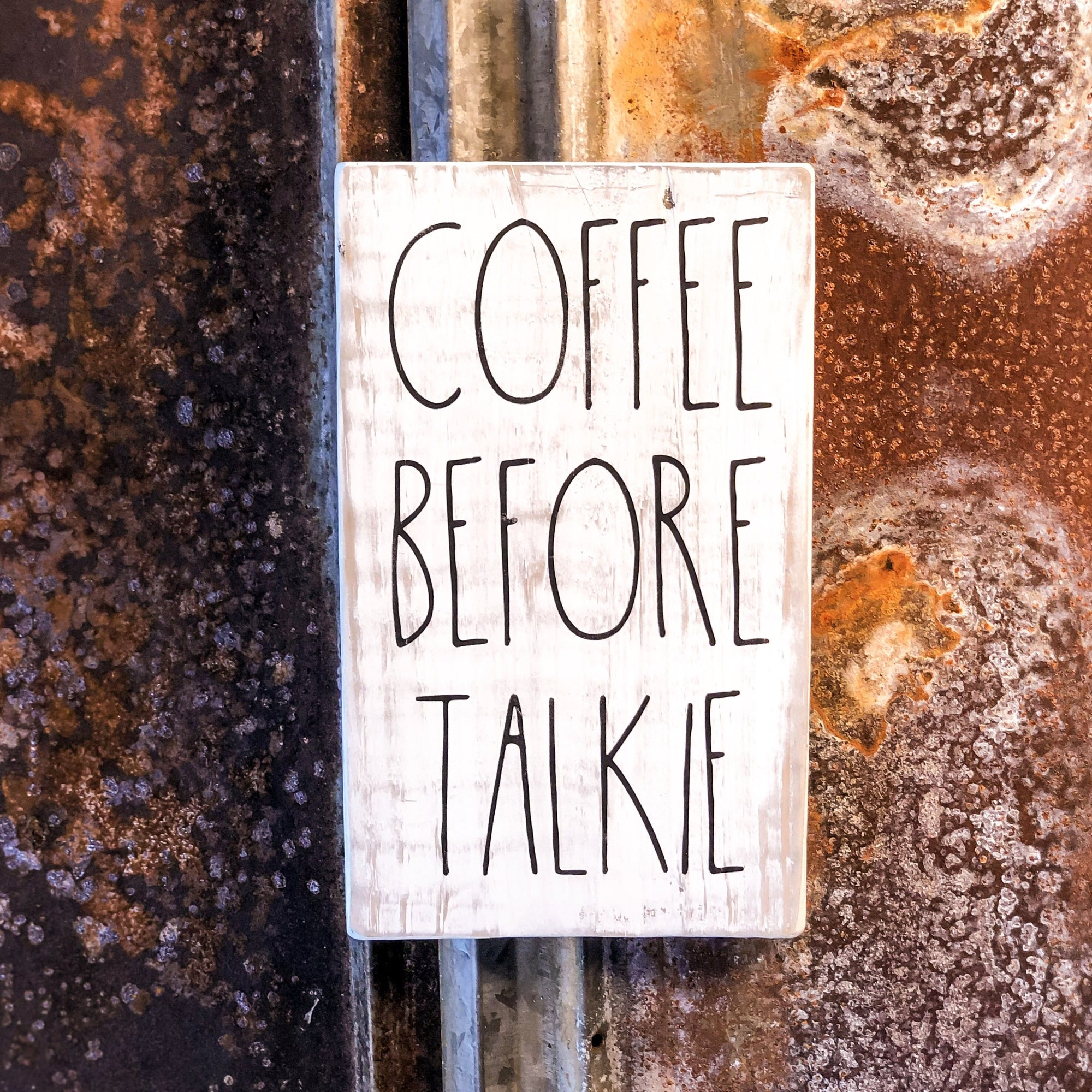 Coffee Before Talkie A Rustic Farmhouse Kitchen Sign Wall Art Walking Pants Curiosities