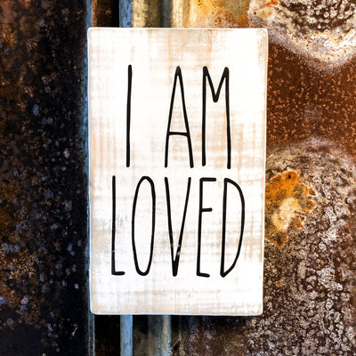 Buy I Am Loved, a Rustic Farmhouse Sign from Walking Pants Curiosities, the Most un-General Gift Store in Downtown Memphis, Tennessee!