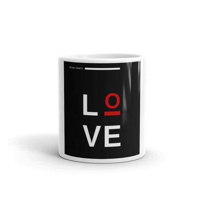 Buy All You Need Is Love Coffee Mug from Walking Pants Curiosities, the Most un-General Gift Store in Downtown Memphis, Tennessee!