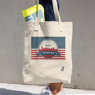 Memphis, Tennessee Americana Cotton Tote Bag