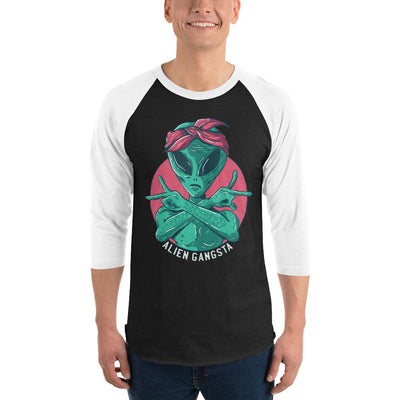 Buy Alien Gangsta 3/4 Sleeve Raglan T-Shirt from Walking Pants Curiosities, the Most un-General Gift Store in Downtown Memphis, Tennessee!