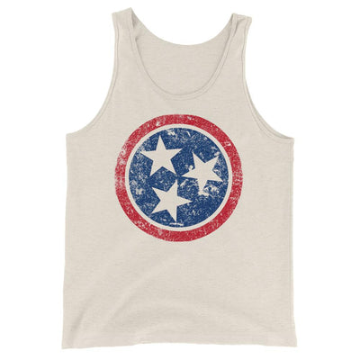 Buy Tennessee Flag Distressed Unisex Tank Top, a Tank Top from Walking Pants Curiosities, the Best Gift Shop Store in Memphis, Tennessee!