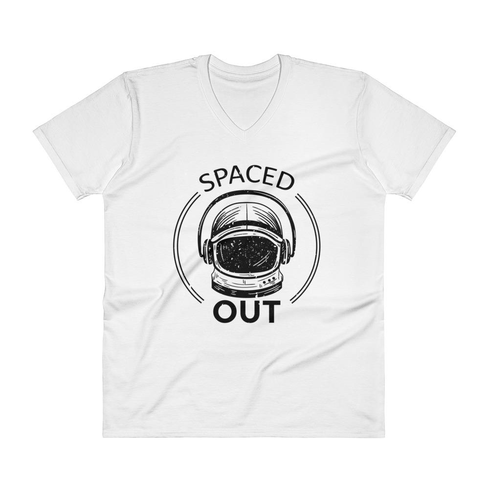 Spaced Out V-Neck T-Shirt - Walking Pants Curiosities