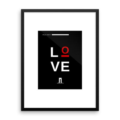 Buy All You Need Is LOVE Framed Print from Walking Pants Curiosities, the Most un-General Gift Store in Downtown Memphis, Tennessee!