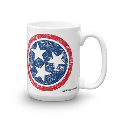 Buy Distressed Tennessee Flag Coffee Mug from Walking Pants Curiosities, the Most un-General Gift Store in Downtown Memphis, Tennessee!