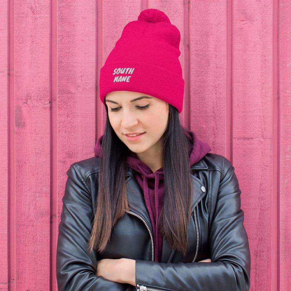 South Mane Hot Pink Pom-Pom Beanie - Walking Pants Curiosities