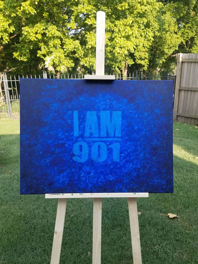 "Buy ""I AM 901"" in Shades of Blue from Walking Pants Curiosities, the Most un-General Gift Store in Downtown Memphis, Tennessee!"