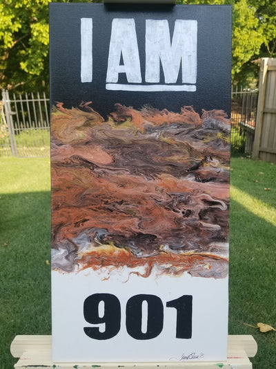 Buy I AM 901 Memphis Flow Abstract Wall Art from Walking Pants Curiosities, the Most un-General Gift Store in Downtown Memphis, Tennessee!