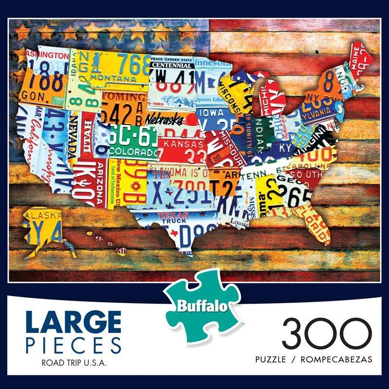 Buy Road Trip U.S.A. 300 Large Piece Jigsaw Puzzle from Walking Pants Curiosities, the Most un-General Gift Store in Downtown Memphis, Tennessee!