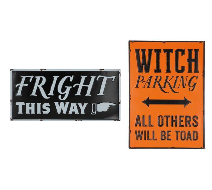 Buy Halloween Signs from Walking Pants Curiosities, the Most un-General Gift Store in Downtown Memphis, Tennessee!