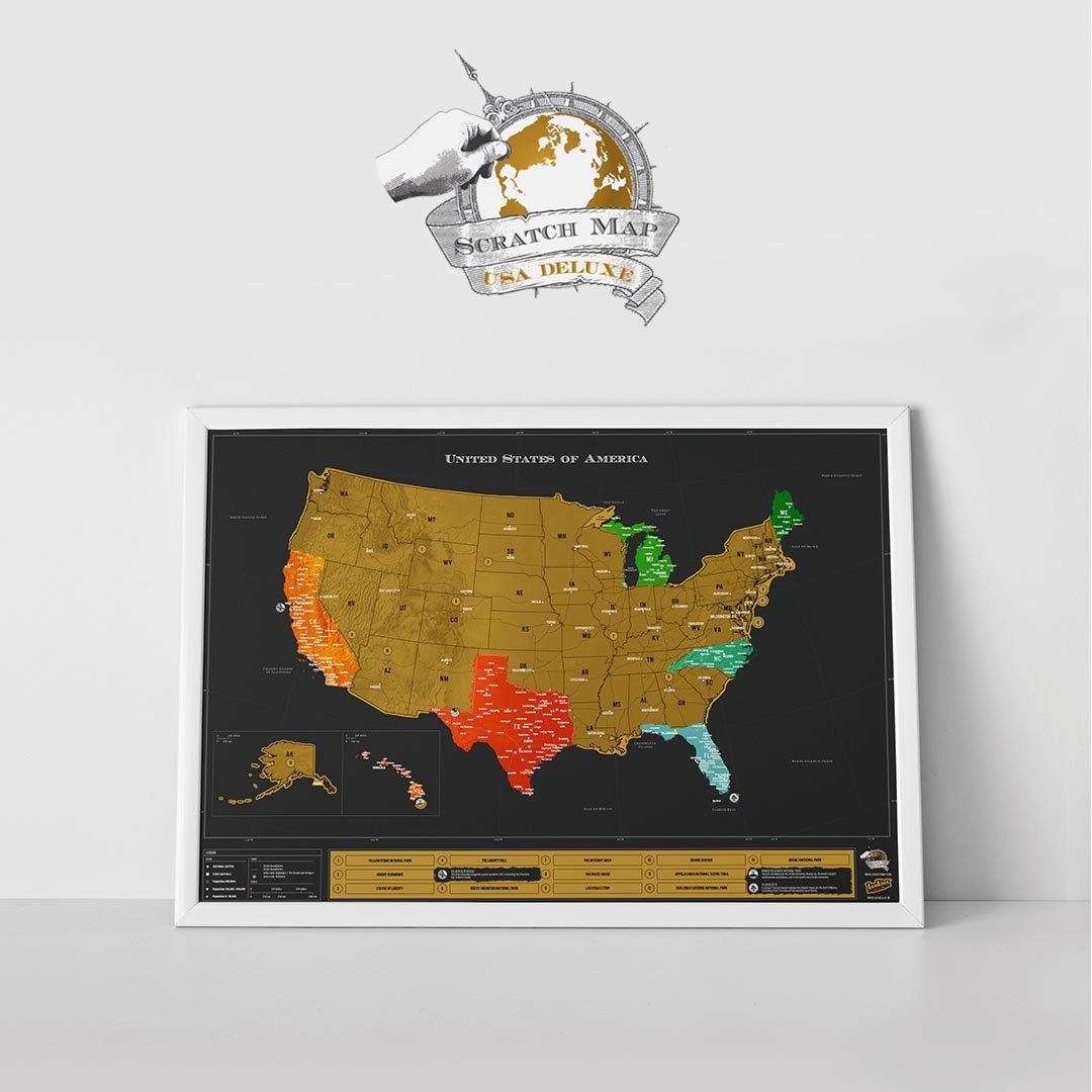 Scratch Map® USA Deluxe Edition - Walking Pants Curiosities