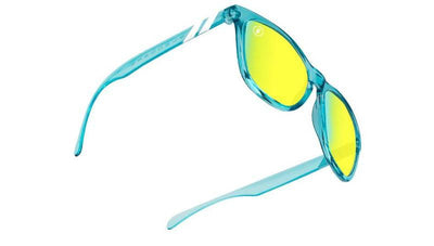 Buy BLENDERS K Series Aqua Lounge Citrus Blue Gold Sunglasses from Walking Pants Curiosities, the Most un-General Gift Store in Downtown Memphis, Tennessee!