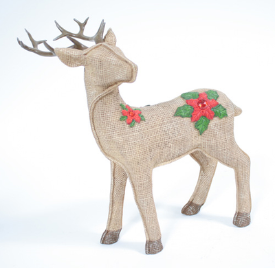 Buy Linen and Burlap Look Deer for Christmas Holidays from Walking Pants Curiosities, the Most un-General Gift Store in Downtown Memphis, Tennessee!
