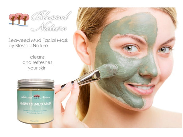 Seaweed Mud Mask Deep Skin Cleanser (FREE plus shipping offer!) Blessed Nature