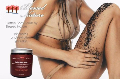 Coffee Body Scrub with Dead Sea Salt Deep Skin Exfoliator Blessed Nature