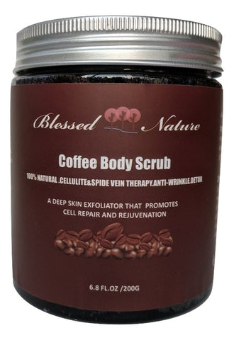 Coffee Body Scrub with Dead Sea Salt Deep Skin Exfoliator (FREE plus shipping offer!)
