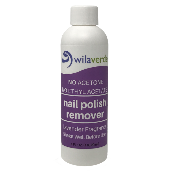 Wilaverde Nail Polish Remover 4 0z Bottle - 100% Biodegradable Blessed Nature