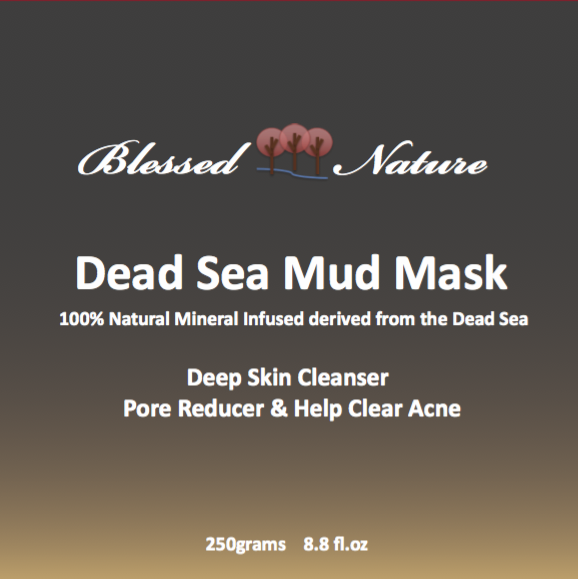 Dead Sea Mud Mask 250G 8.8 fl.oz. Deep Skin Cleanser Blessed Nature