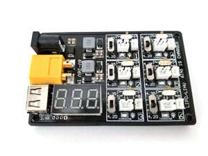 Crazepony 1S LiPo LiHV Charger Board 6 Port + USB charging