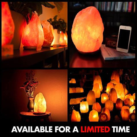 Himalayan Air-Purifying Natural Salt Lamp - WEEKLY DEAL