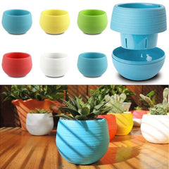 Round Decorative Plant Pot for Garden, Home or Office - FREE SHIPPING
