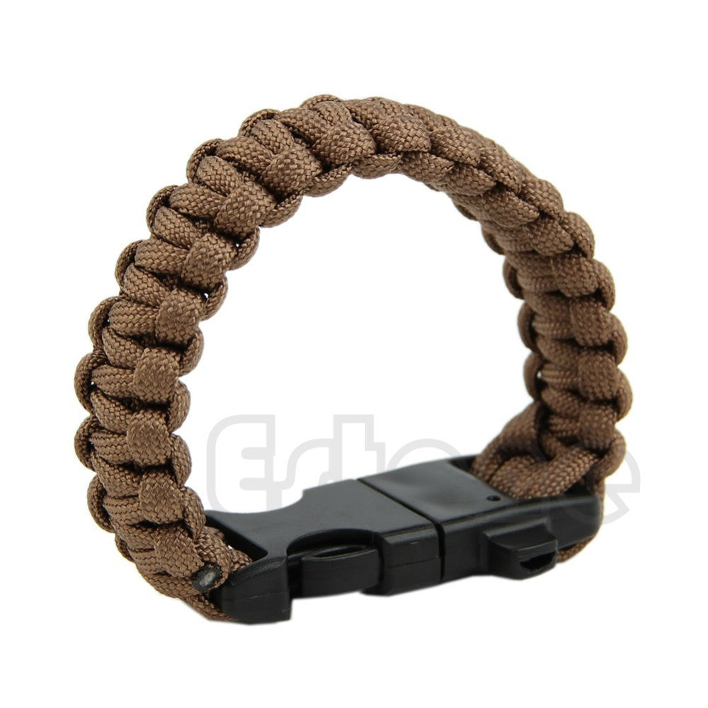 Paracord Bracelet with Flint Fire Starter & Scraper & Whistle - Get it for Free - Just pay shipping