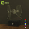Star Wars Tie Fighter 3D Lamp