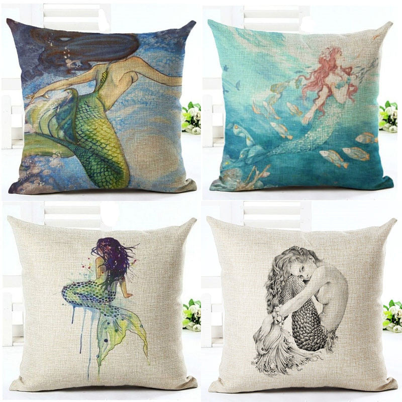 Cute Mermaid Cushion Covers